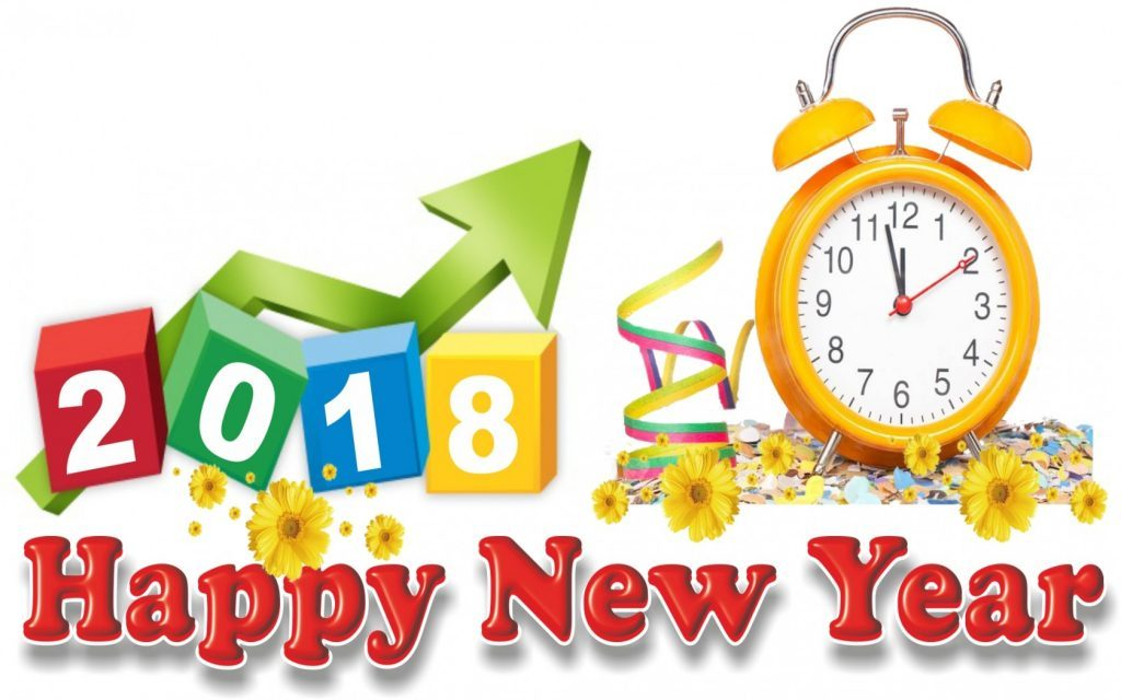 happy new year 2018 bell alarm clock