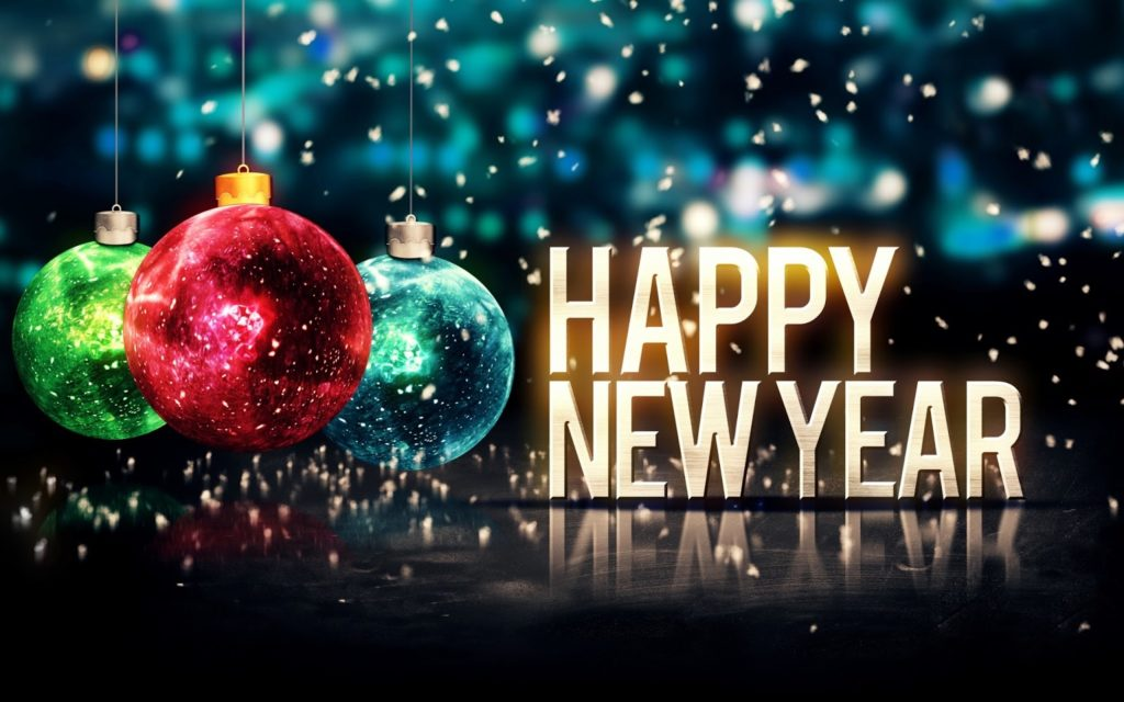 happy new year 2018 black background