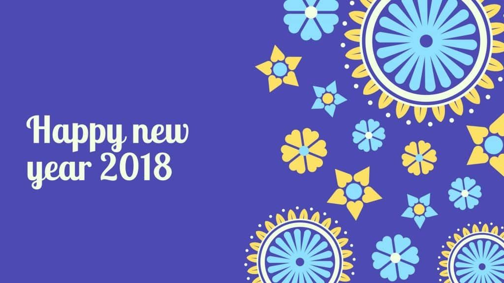happy new year 2018 rangloli pic