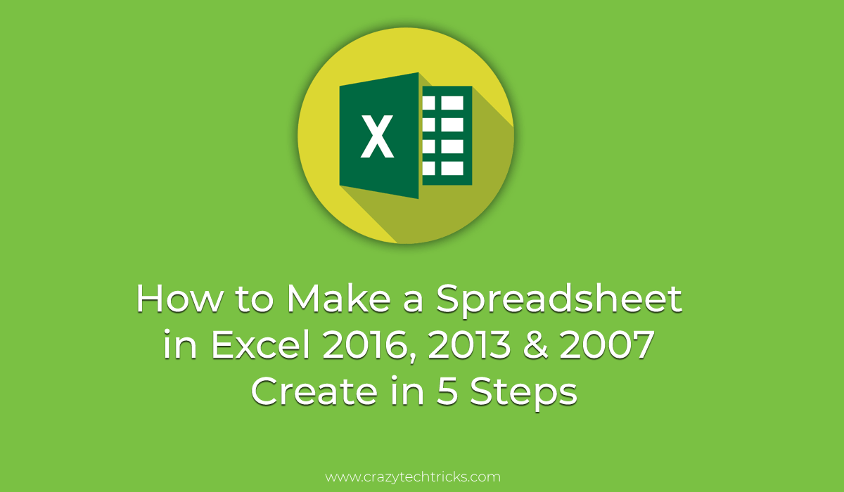 How to Make a Spreadsheet in Excel