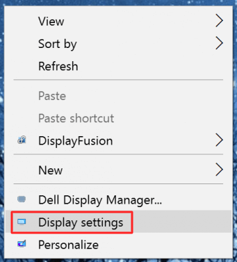 Right-click on your Windows 10 PC-Laptop screen and select the Display settings option - How to Calibrate the Monitor in Windows 10