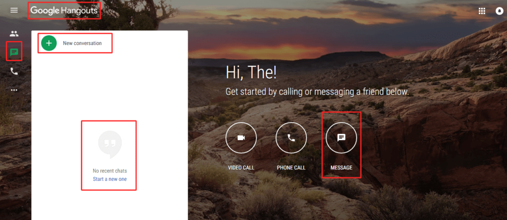 Send a text message from your computer Using Google Hangouts