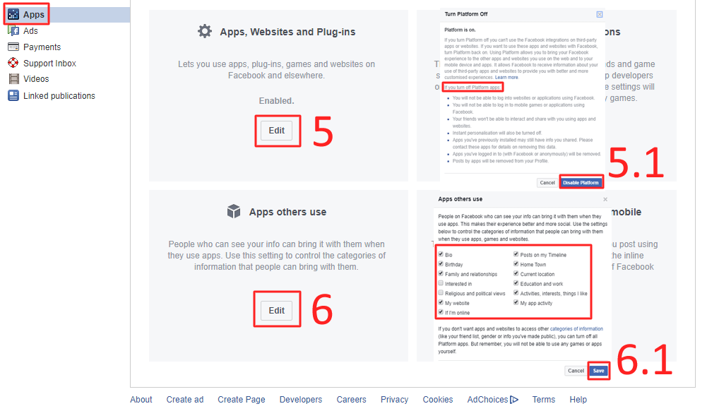 Then choose the category according to your wish which you want to share with apps - How to Stop Facebook From Sharing Your Data with a 3rd Party