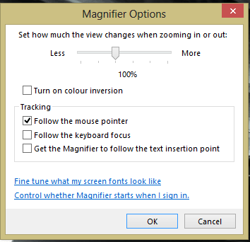Windows 10 Magnifier Turn Off