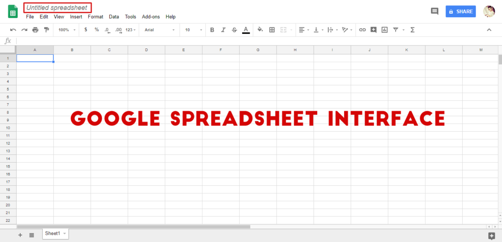 blank spreadsheet page will be opened