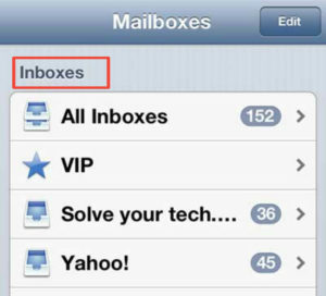 choose your Inbox Folder. - How to Search Email on iPhone Quickly - Best Method