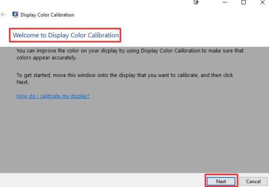 follow the on-screen instructions by clicking Next button to calibrate your monitor.- How to Calibrate the Monitor in Windows 10