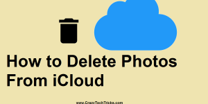 How to Delete Photos From iCloud