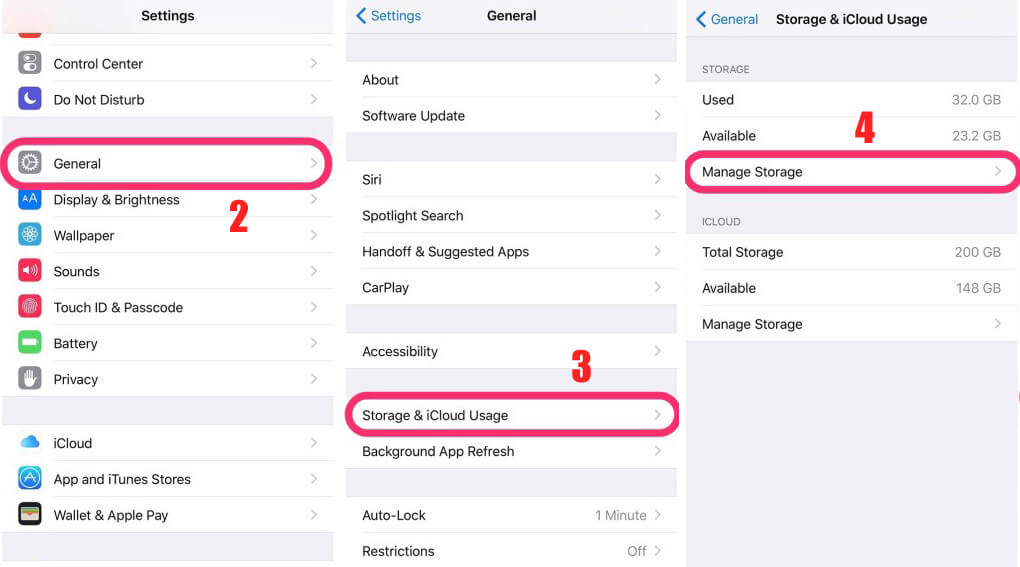 How to Free Up Space on Your iPhone – iPhone Storage Full - How to Manage Storage on iPhone 6, 7, 8 and X