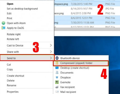 click on Compressed (zipped) Folder - How to Zip a File in Windows 10 Without any Software
