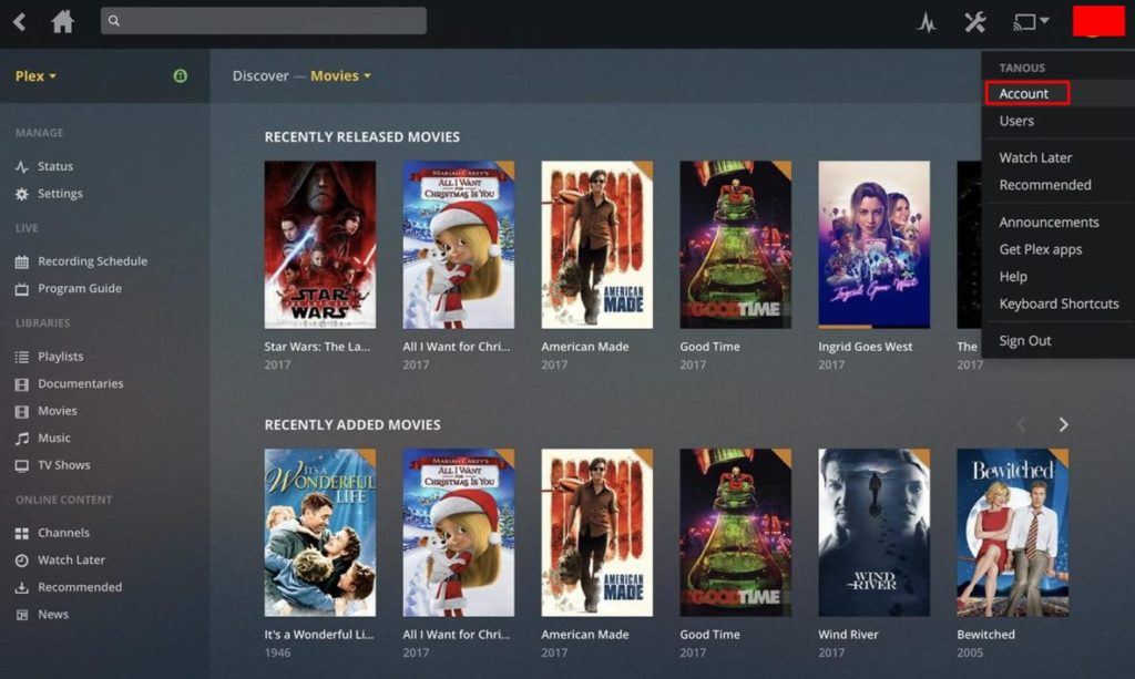 from the top-right side click on Account - How to Disable Plex News - Best Method