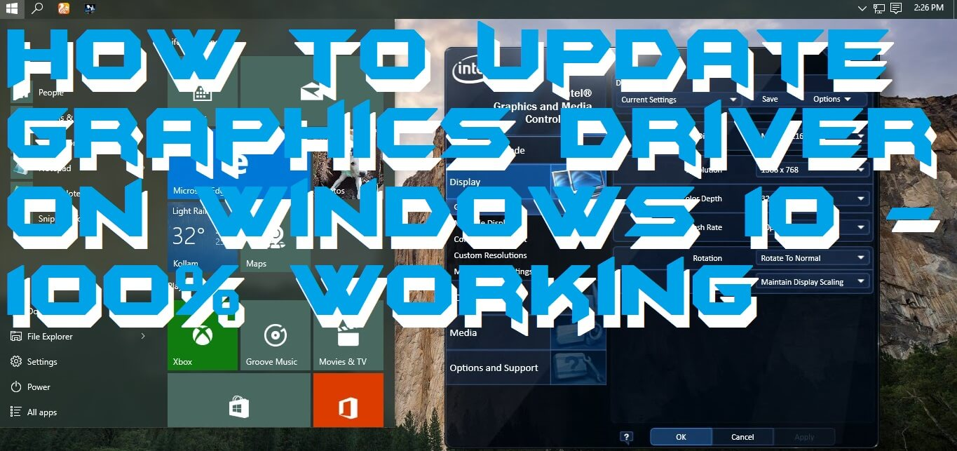 How to Update Graphics Driver on Windows 10 – 100% Working