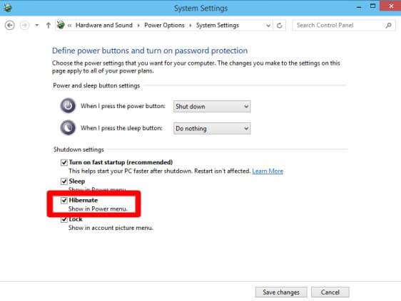 check the checkbox before Hibernate option- How to Enable Hibernation in Windows 10 - Hibernating Windows 10