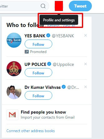 click on Profile and Settings button which is your profile picture. - Where is Account Settings on Twitter - Edit Twitter Settings