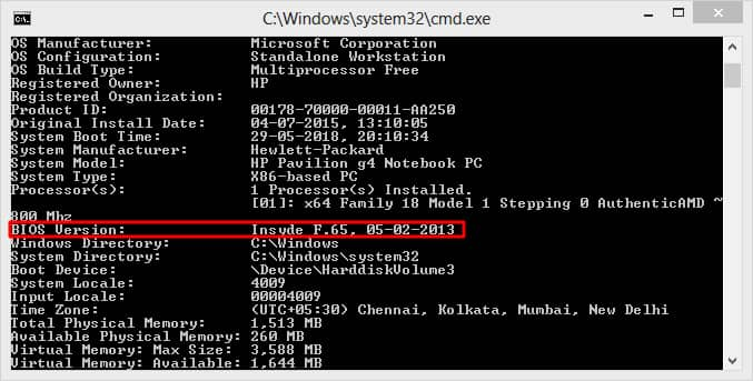 How Old is My Computer-Laptop - Check without any Software - Method 1 – Using Command Prompt