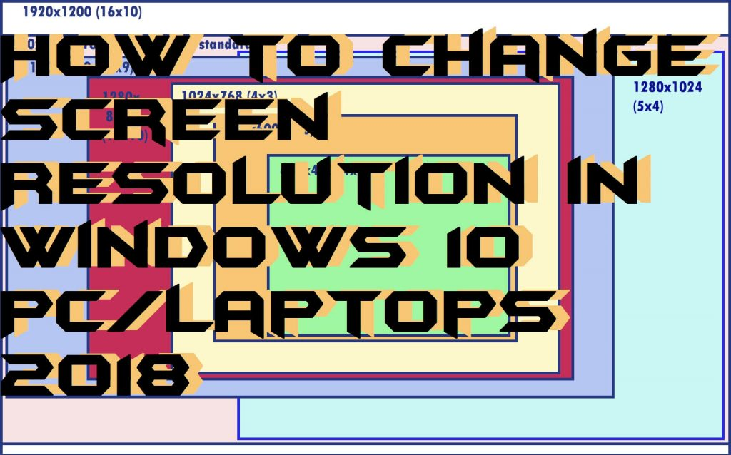 How to Change Screen Resolution in Windows 10 PC-Laptops 2018