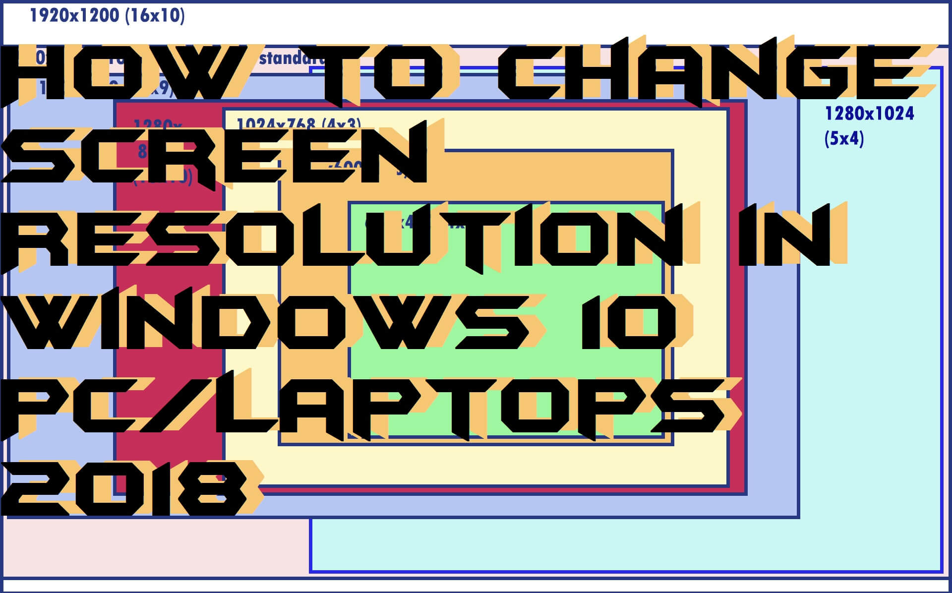How to Change Screen Resolution in Windows 10 PC/Laptops 2018