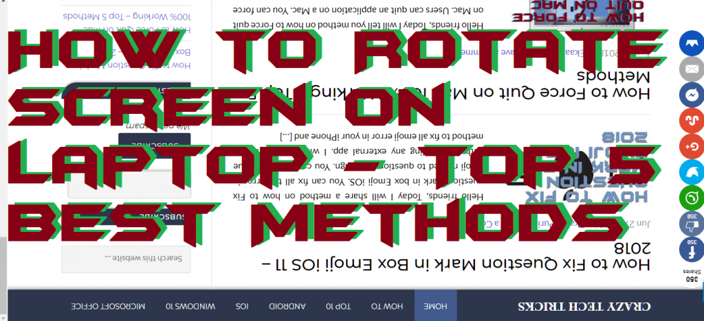 How to Rotate Screen on Laptop - Top 5 Best Methods