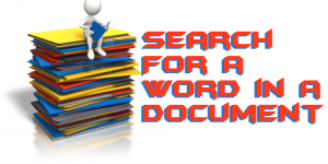 How to Search For a Word in a Document on Windows PC/Laptops