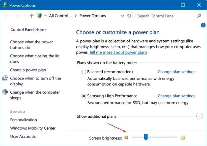 How to Change Brightness on Windows 10 – Adjust Brightness – Using Control Panel