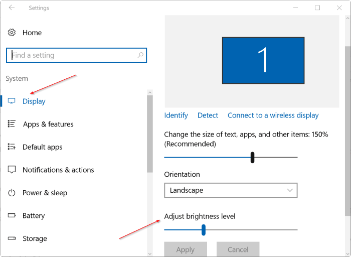 How to Change Brightness on Windows 10 – Adjust Brightness – Using Settings
