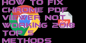 How to Fix Chrome PDF Viewer Not Working 2018 – Top 5 Methods