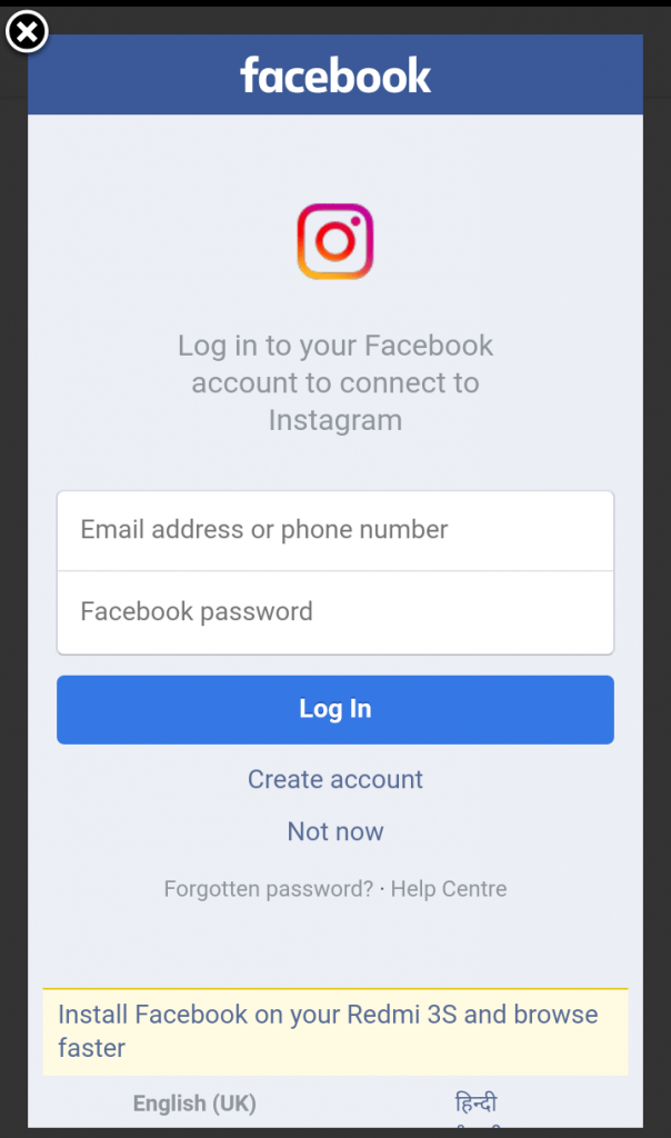 How to Recover Instagram Forgot Password – Using Facebook Account