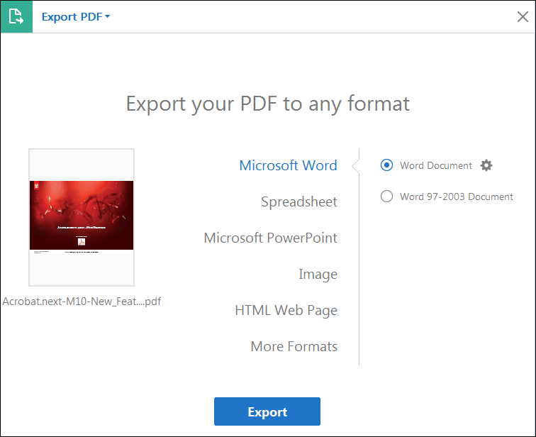 How to Save a PDF as a JPEG on Windows-Mac-Online – Using Adobe Acrobat DC
