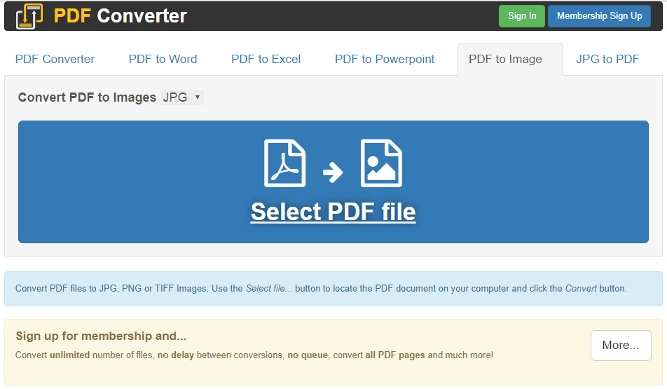 How to Save a PDF as a JPEG on Windows-Mac-Online – Using FreePDFConvert Website