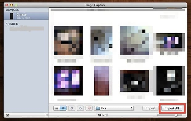How to Transfer Photos From Android to Mac – Using Image Capture Tool