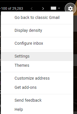 How to Unblock someone on Gmail - Click on the settings