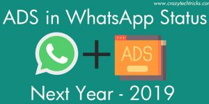 WhatsApp is Going to Show Ads in Status From Year 2019