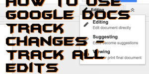 How to Use Google Docs Track Changes – Track all Edits