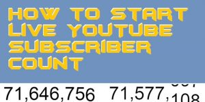 How to Start Live YouTube Subscriber Count