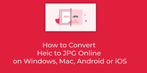 How to Convert Heic to JPG Online on Windows, Mac, Android or iOS