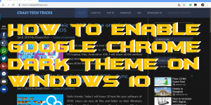 How to Enable Google Chrome Dark Theme on Windows 10