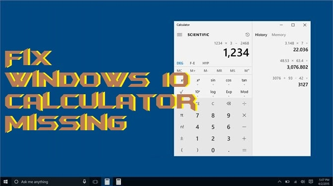 How to Fix Windows 10 Calculator Missing - 2 Best Methods