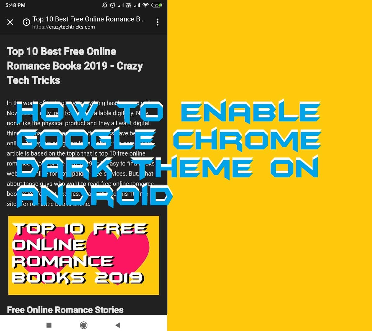 How to Enable Google Chrome Dark Theme on Android - Crazy