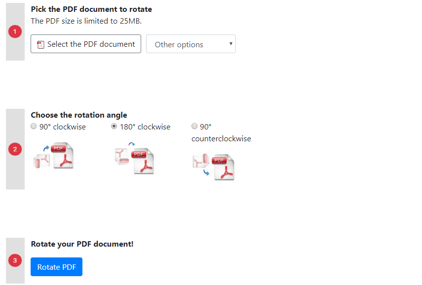 How to Rotate a PDF Online 90°, 180° clockwise and 90° counterclockwise