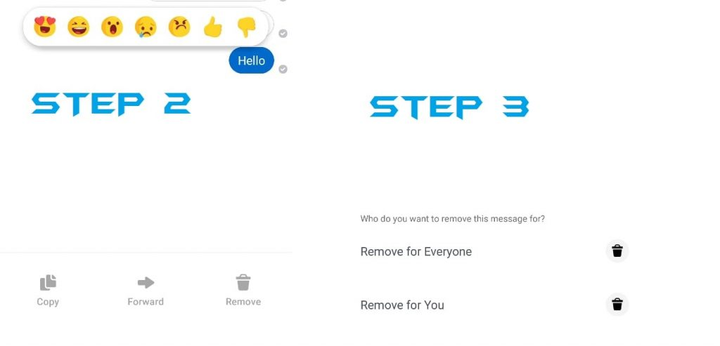 How to Unsend a Message on Facebook Messenger using Android or iPhone