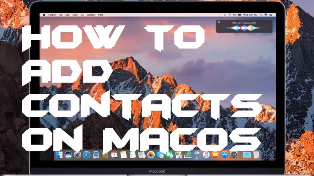 How to Add Contacts on MacOS