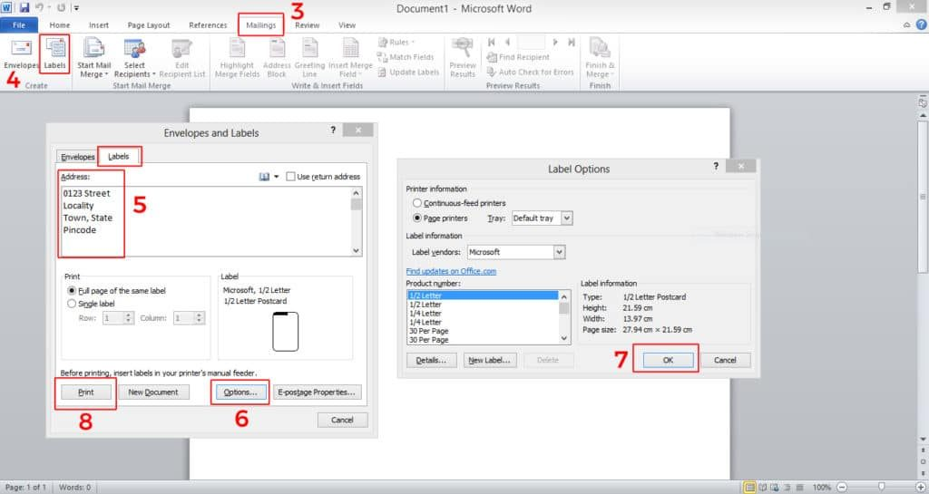How to Create and Print Labels in Word - step by step