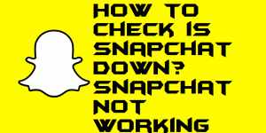 How to Check is Snapchat Down Snapchat Not Working