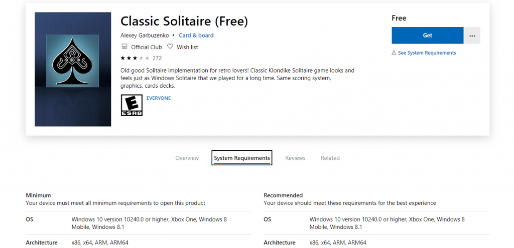 How to Get Classic Solitaire free For Windows 10