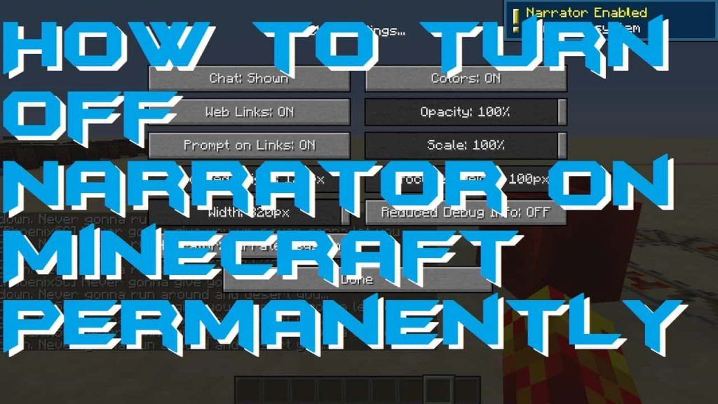 How to Turn Off Narrator on Minecraft