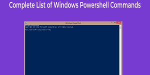 list of Windows Powershell Commands