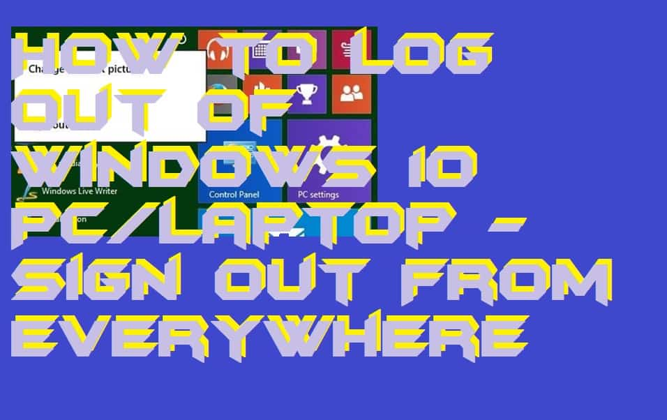 How to Log out of Windows 10