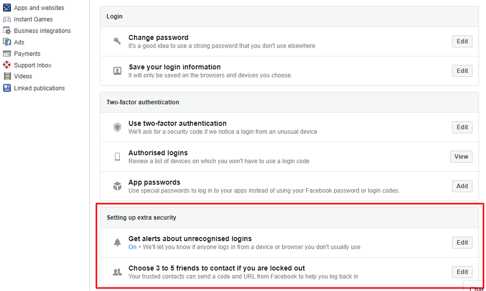 Enable login alerts - How to Secure Yourself From Facebook Hack Scam