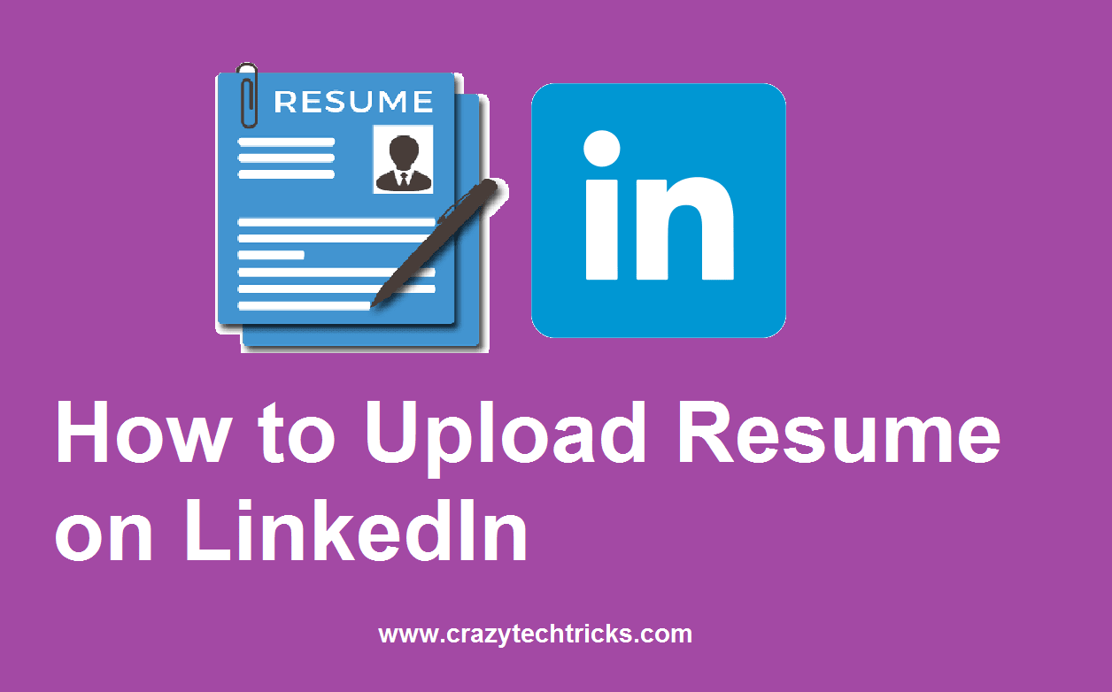 how to upload resume on linkedin in 5 steps