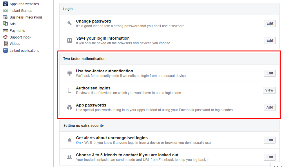 Use two-factor authentication - How to Secure Yourself From Facebook Hack Scam